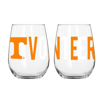 Tennessee Overtime Curved Beverage Glass