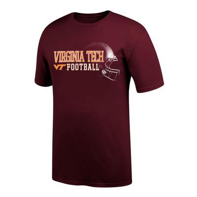 Virginia Tech Football Helmet Short Sleeve Tee Shirt
