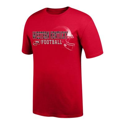 Western Kentucky Football Helmet Short Sleeve Tee Shirt