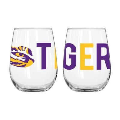 LSU Overtime Curved Beverage Glass
