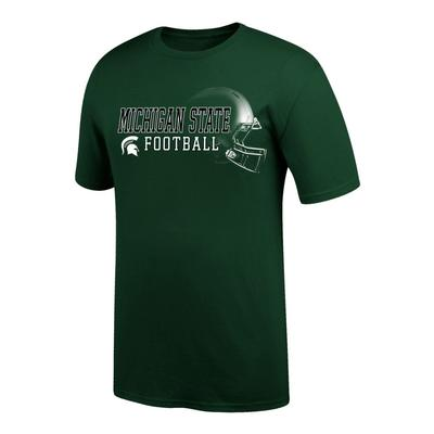 Michigan State Football Helmet Short Sleeve Tee Shirt