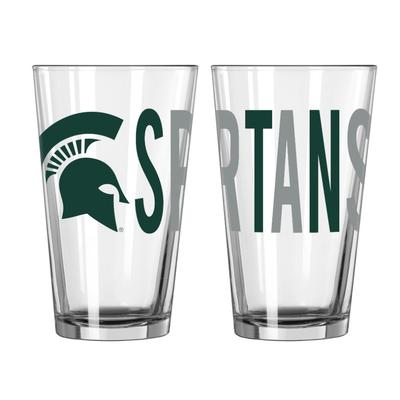 Michigan State 16oz Overtime Pint Glass