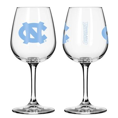 UNC 12oz Satin Etch Wine Glass