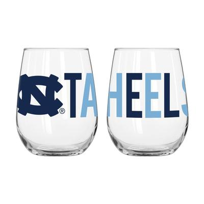 UNC Overtime Curved Beverage Glass