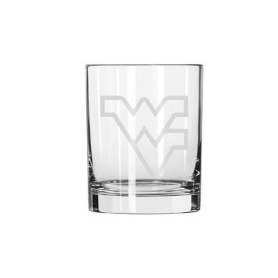West Virginia 14oz Satin Etch Rocks Glass