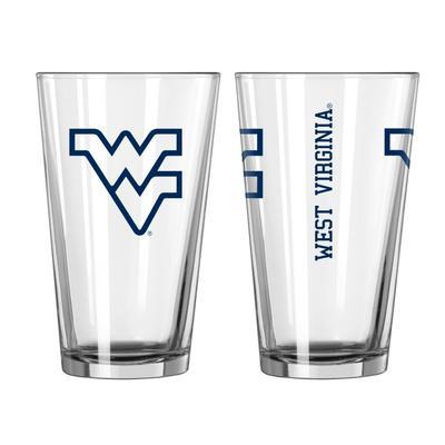 West Virginia 16oz Gameday Pint Glass
