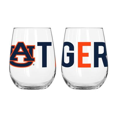 Auburn Overtime Curved Beverage Glass