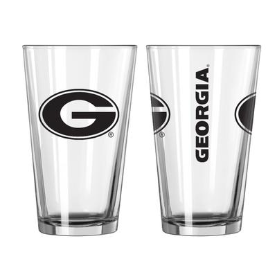 Georgia 16oz Gameday Pint Glass