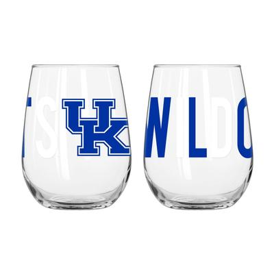 Kentucky Overtime Curved Beverage Glass