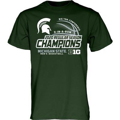 Michigan State 3 In A Row Big 10 Regular Season Champs T-Shirt