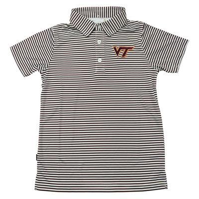 Virginia Tech Carson Youth Striped Polo