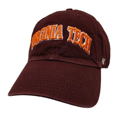 Virginia Tech '47 Brand Arch Clean Up Hat