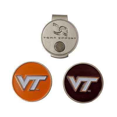Virginia Tech Hat Clip/Golf Ball Marker Set