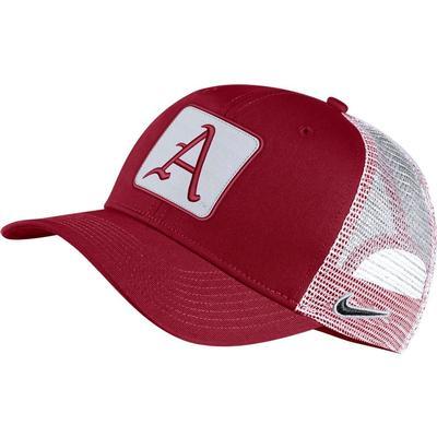 Arkansas Nike Adjustable C99 W/ 'A' Logo Patch Trucker Hat