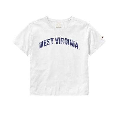 West Virginia League Clothesline Crop Top