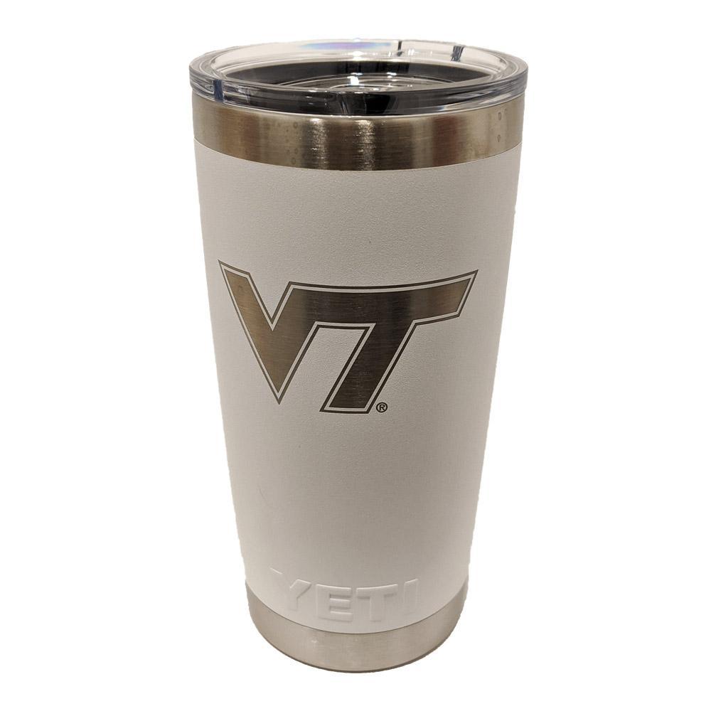 Virginia Tech Yeti 20oz White Powder Coated Rambler