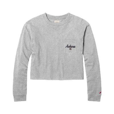 Auburn League Clothesline Long Sleeve Crop Top