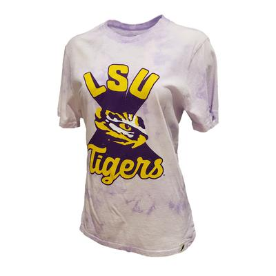 LSU League Retro Tie Dye Crew Tee Shirt