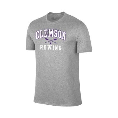 Clemson Rowing Basic Short Sleeve T-Shirt GREY