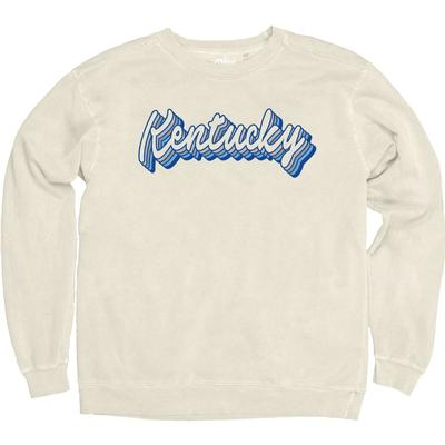 Kentucky Blue 84 Women's Drop Shadow Overdyed Crew