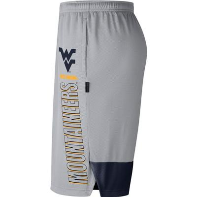 West Virginia Nike Men's Breathe Dry Player Knit Shorts