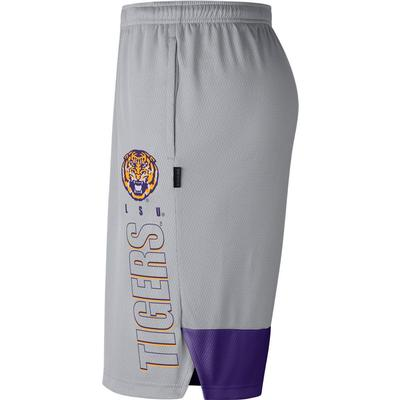 LSU Nike Men's Breathe Dry Player Knit Shorts