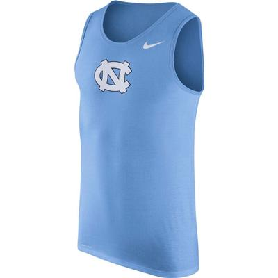 UNC Nike Men's Dri-fit Cotton Logo Tank