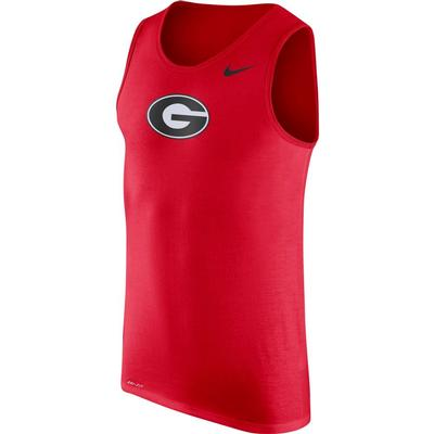 Georgia Nike Men's Dri-fit Cotton Logo Tank