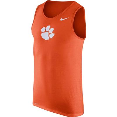Clemson Nike Men's Dri-fit Cotton Logo Tank
