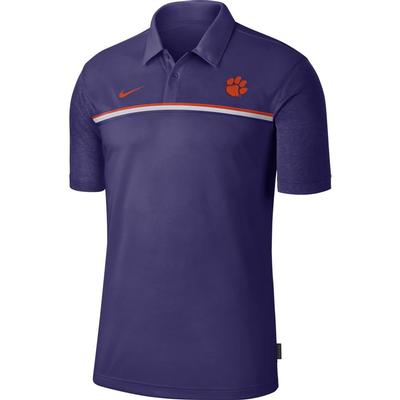 Clemson Nike Men's Dry Polo 2 NEW_ORCHID