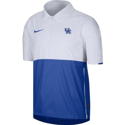Kentucky Nike Men's Lightweight Coach Short Sleeve Jacket