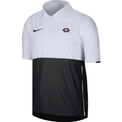 Georgia Nike Men's Lightweight Coach Short Sleeve Jack