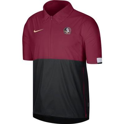 FSU Nike Men's Lightweight Coach Short Sleeve Jacket