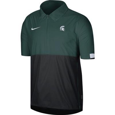 Michigan State Nike Men's Lightweight Coach Short Sleeve Jacket
