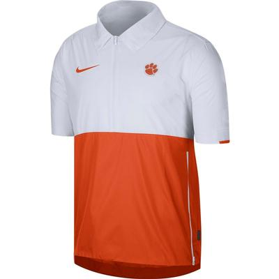 Clemson Nike Men's Lightweight Coach Short Sleeve Jacket
