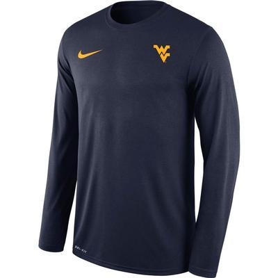West Virginia Nike Men's Long Sleeve Legend Tee