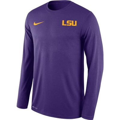 LSU Nike Men's Long Sleeve Legend Tee