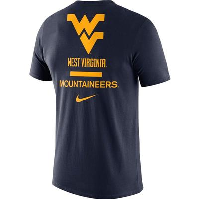 West Virginia Nike Men's Dri-fit Cotton DNA Tee