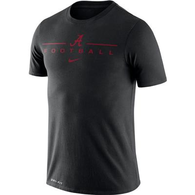 Alabama Nike Men's Dri-fit Icon Football Word Tee