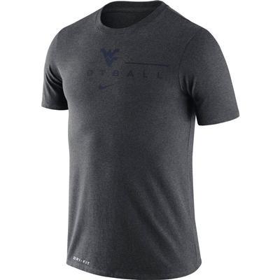 West Virginia Nike Men's Dri-fit Icon Football Word Tee