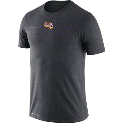 LSU Nike Men's Dri-fit Icon Football Word Tee