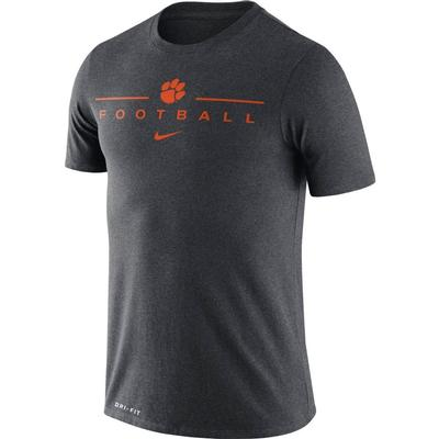 Clemson Nike Men's Dri-fit Icon Football Word Tee