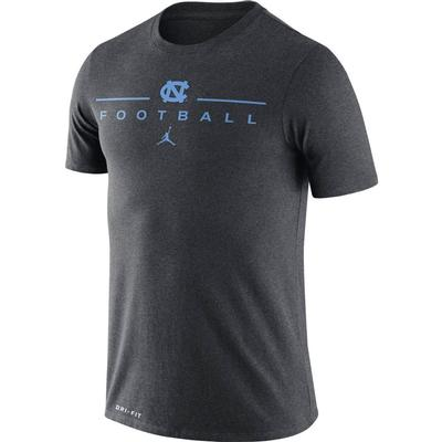 UNC Nike Men's Dri-fit Icon Football Word Tee