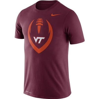 Virginia Tech Nike Men's Legend Icon Football Tee