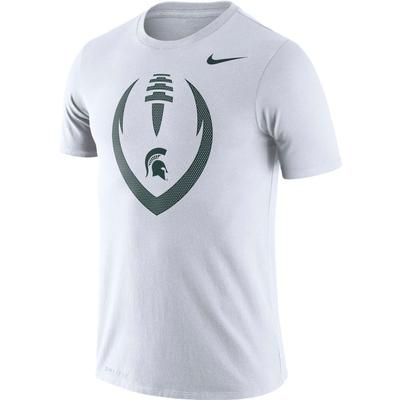 Michigan State Nike Men's Legend Icon Football Tee