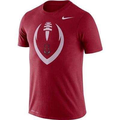 Arkansas Nike Men's Legend Icon Football Tee