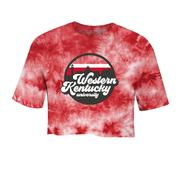 Western Kentucky Tie Dye Crystal Wash Crop Top