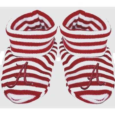 Alabama Infant Striped Booties