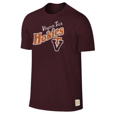 Virginia Tech Retro Brand Diagonal Slub Tee