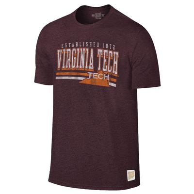 Virginia Tech Retro Brand Mock Twist Tee